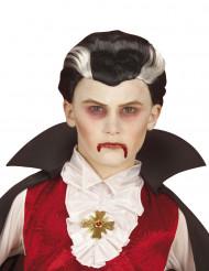 Tvåfärgad vampyrperuk barn Halloween