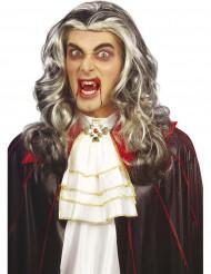 Tvåfärgad vampyrperuk vuxen Halloween