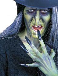 Svarta lösnaglar vuxen Halloween