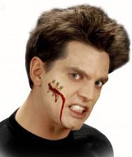 Fejksår med säkerhetsnål Halloween