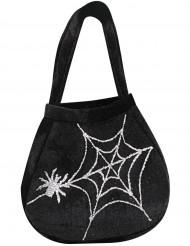 Väska med spindel och spindelnät Halloween
