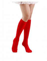 Röda knästrumpor 53 cm vuxen