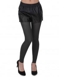 Svarta leggings - Maskeradtillbehör för vuxna