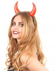 Röda djävulshorn - Halloweenaccessoarer för vuxna