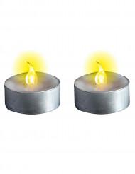 2 lysande LEDljus värmehållning