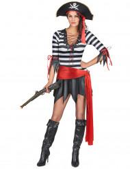 Randig sjörövare - Piratkostym för vuxna