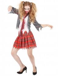 Zombieskolflicka - Halloweenkostymer för vuxna