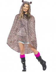 Poncho leopard vuxen