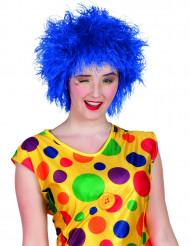 Blå clownperuk