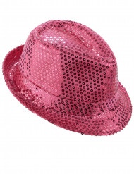 Rosa hatt med paljetter vuxen