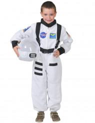 Vit astronautdräkt barn