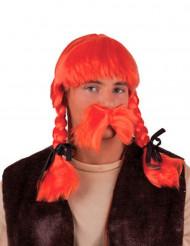Orange peruk galler vuxen