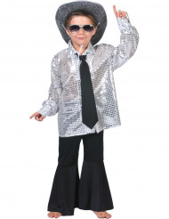 Discoskjorta silver barn