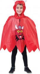 Djävulsponcho Halloween barn