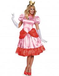 Prinsessan Peach™Deluxe - Maskeraddräkt för damer