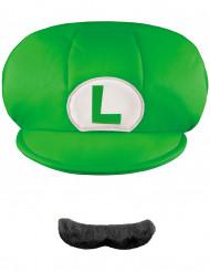 Luigi™ mössa och mustasch barn