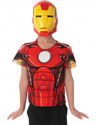 Skjortbröst och mask Ironman Avengers Assemble™ barn