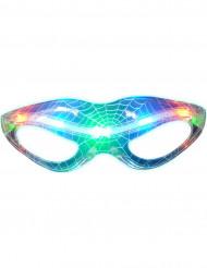 Genomskinliga, lysande glasögon med spindelnätsmönster