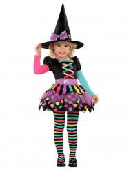 Färgglad Häxdräkt till Halloween för barn