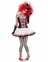 Maskeraddräkt Harlequinclown Halloween ungdom