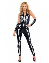 Sexig Skelettdräkt vuxen Halloween