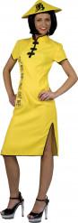 Kostym i gult med inspiration från Mittens rike dam