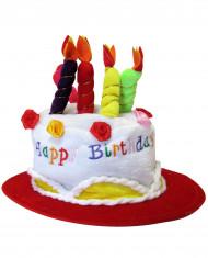 Röd Happy Birthday-hatt