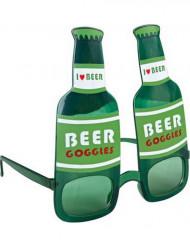 Glasögon gröna ölflaskor vuxen