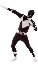 Svart Power Rangers™ - Morphsuits™ dräkt för vuxen