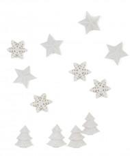Vita bordskonfettin till jul - Juldukning 2,5 cm
