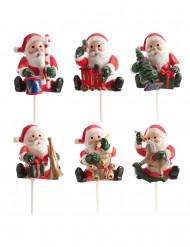 6 stycken julkakspynt i form av tomtenissar - Julpynt