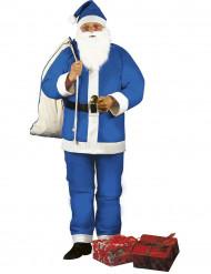 Blå jultomtedräkt för vuxna