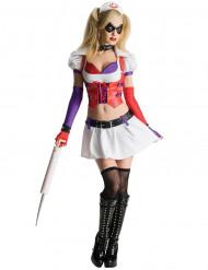 Maskeraddräkt Harley Quinn sjuksköterska Arkham City™ vuxen