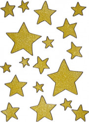 Stjärnor - Stickers för fönstret till jul