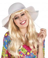 Somrig vit hatt för vuxen