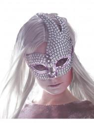 Venetiansk glittrigÖgonmaski silver vuxen