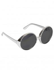 Silverfärgadde discoglasögon vuxen