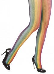 Regnbågsfärgade strumpbyxor vuxen