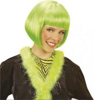 Kort, grön kabaréperuk barn