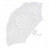 Parasoll i vit spets 85 cm