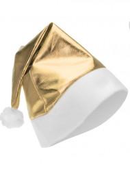 Guldfärgad, metallaktig tomteluva vuxen Jul