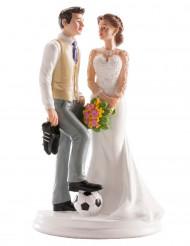 Fotbollsparet - Tårtdekoration till bröllopstårtan