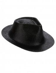 Glittrig, svart hatt vuxen
