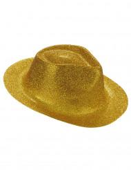 Glittrig guldfärgad hatt vuxen