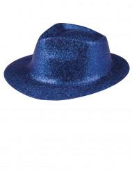 Glittrig blå hatt för vuxna