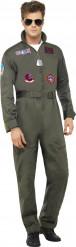 Maskeraddräkt lyx pilot Top Gun™ vuxen