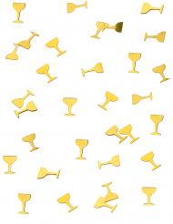 Bordskonfetti med champagneglas