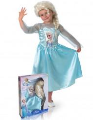 Elsa Frost™dräkt med peruk för barn