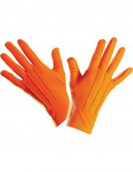 Korta oranga handskar vuxenstorlek