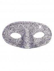 Glitter silver mask, vuxen